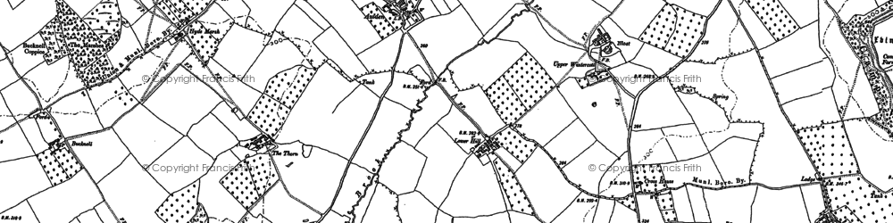 Old map of Aulden in 1885