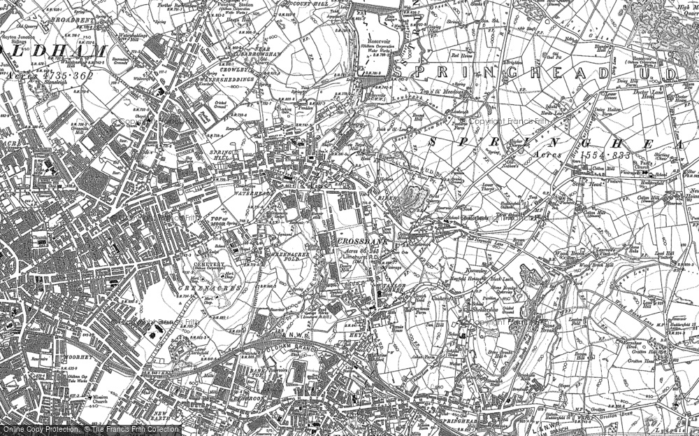Old Map of Austerlands, 1904 in 1904