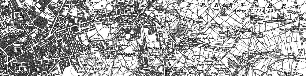 Old map of Austerlands in 1904