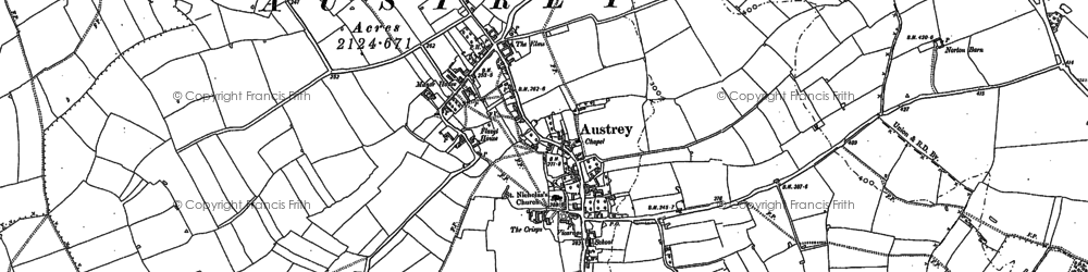 Old map of Austrey in 1901