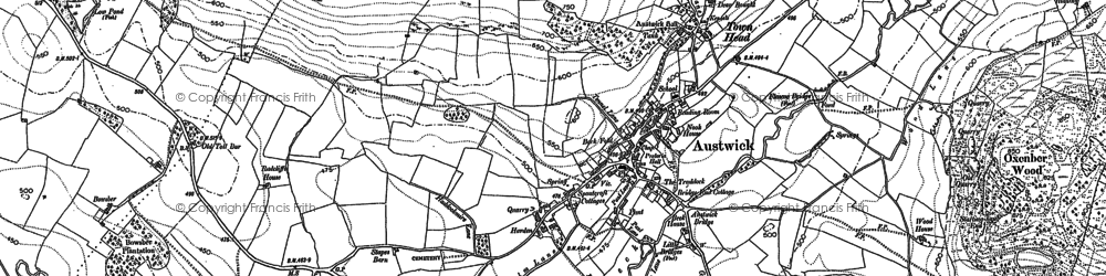 Old map of Wharfe Wood in 1907