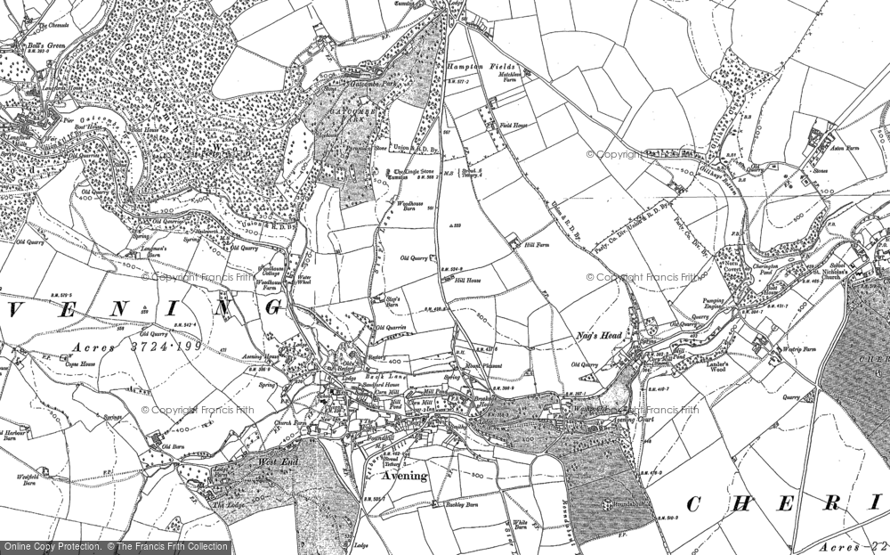 Old Map of Avening, 1882 - 1901 in 1882