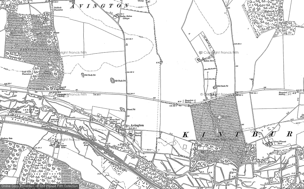 Old Map of Avington, 1899 - 1910 in 1899