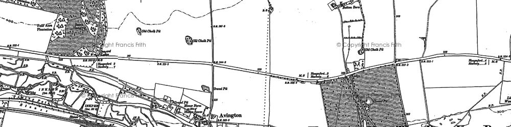 Old map of Avington in 1899