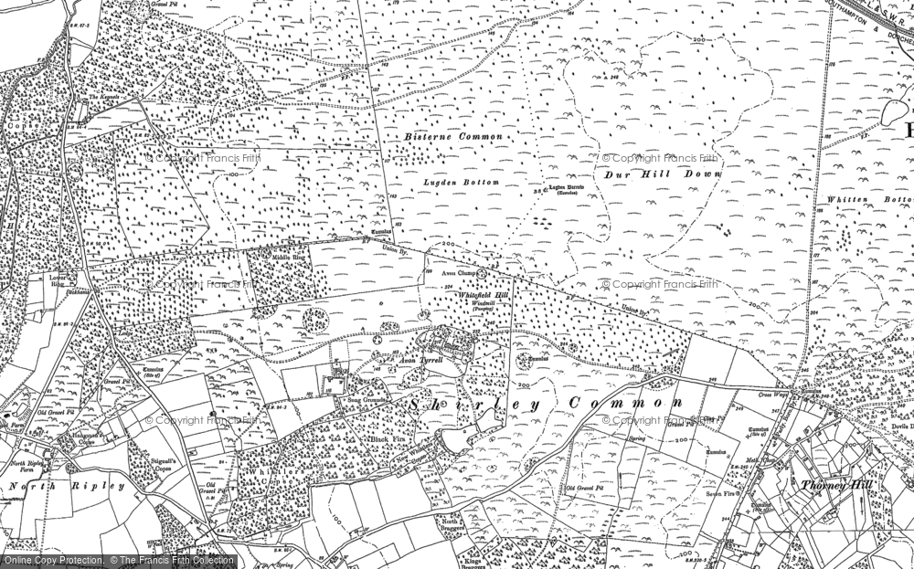 Old Map of Avon Tyrrell, 1896 - 1907 in 1896