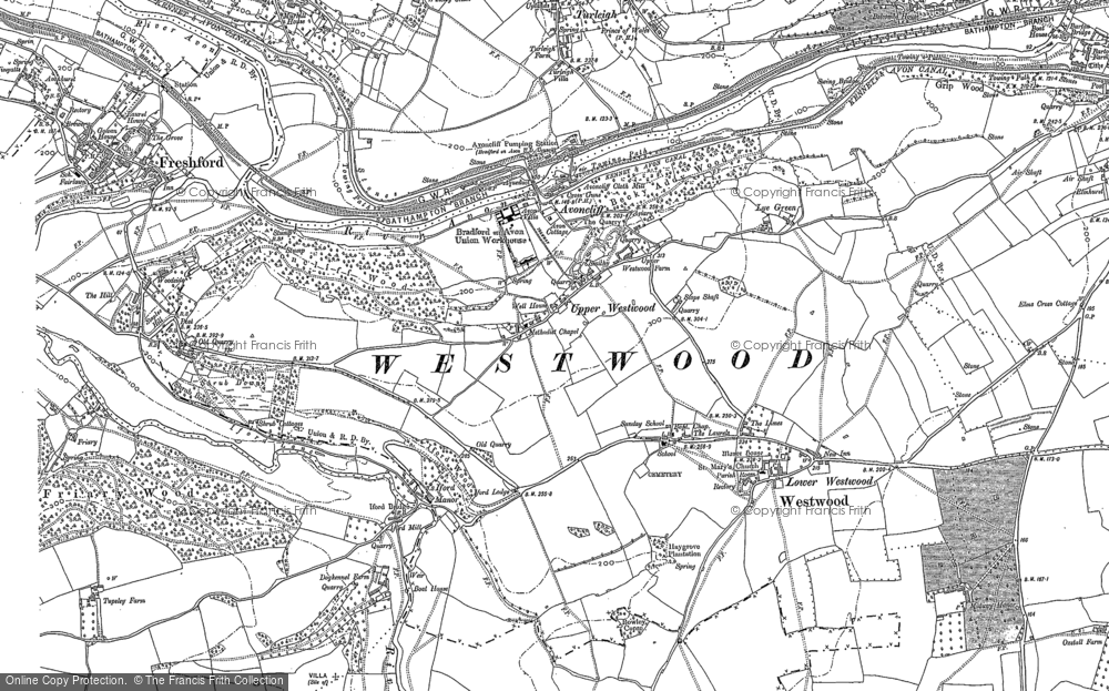 Old Map of Avoncliff, 1902 in 1902