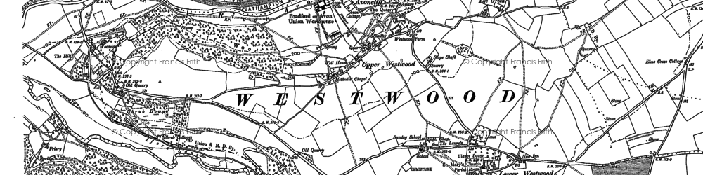 Old map of Avoncliff in 1902