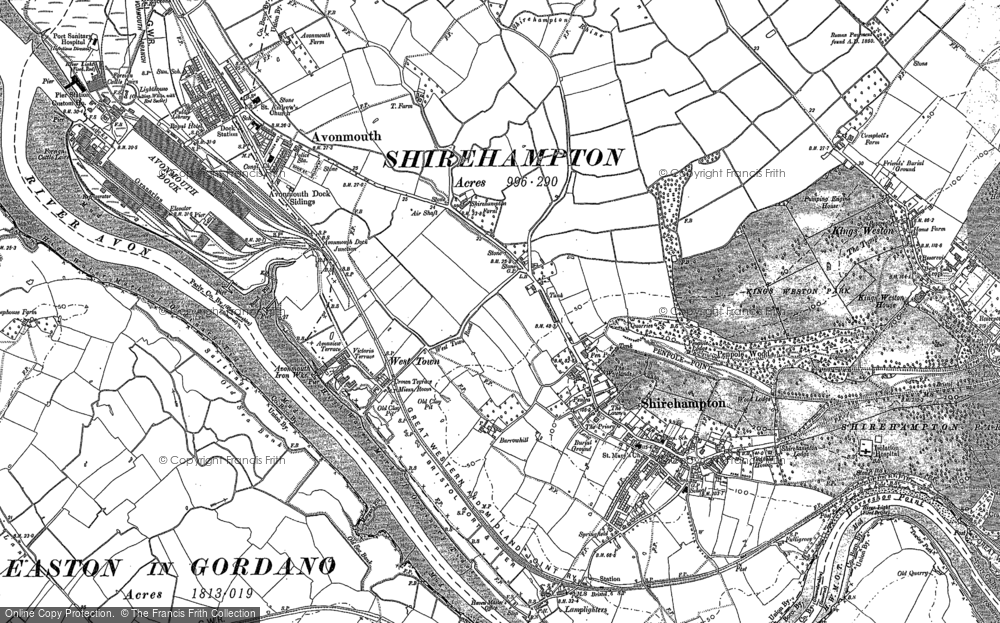 Old Map of Avonmouth, 1901 in 1901