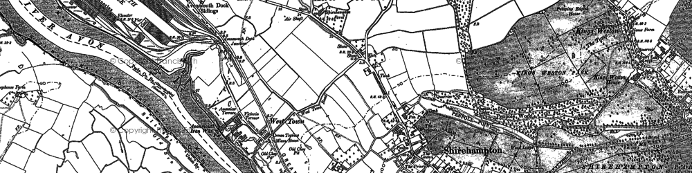 Old map of Avonmouth in 1901