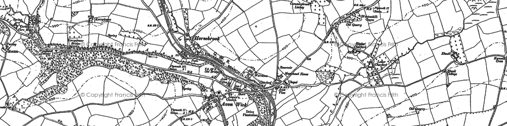 Old map of Avonwick in 1886