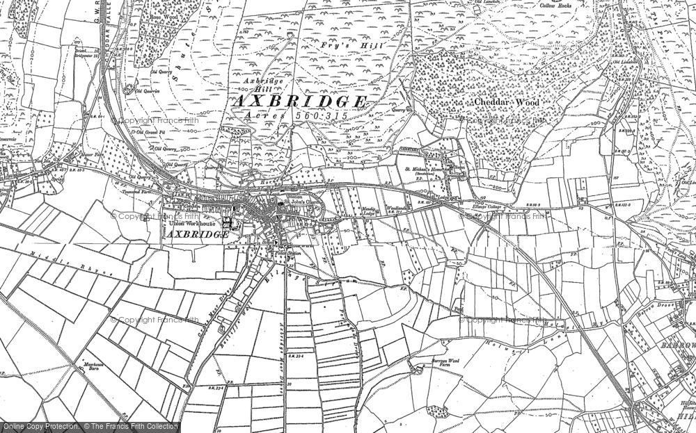 Old Map of Axbridge, 1884 in 1884