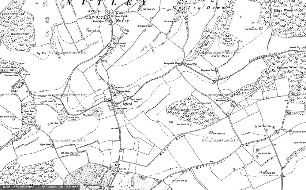Old Map of Axford, 1894 in 1894