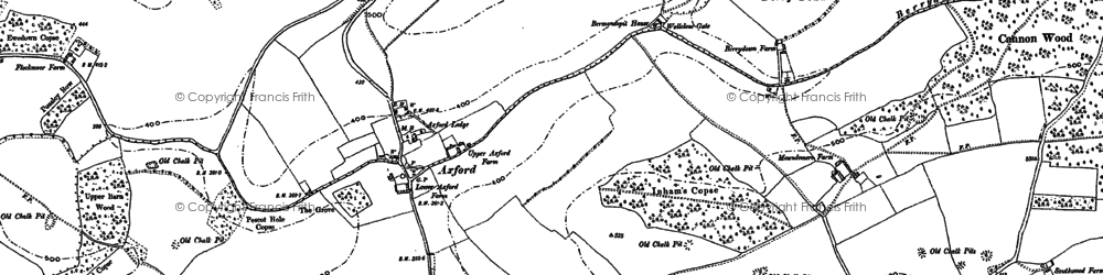 Old map of Axford in 1894