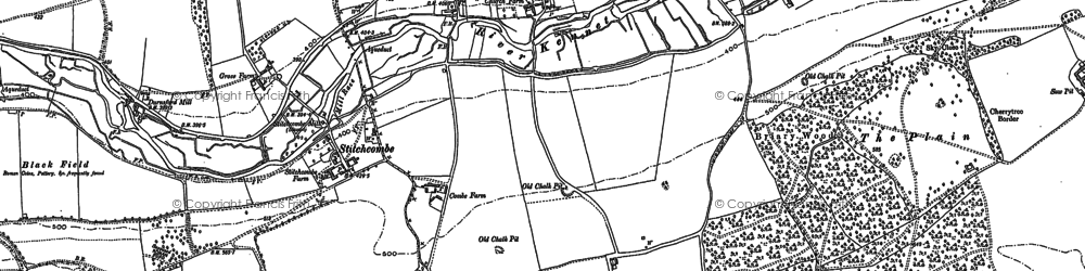 Old map of Axford in 1899