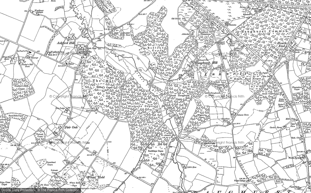 Old Map of Axmansford, 1894 - 1909 in 1894