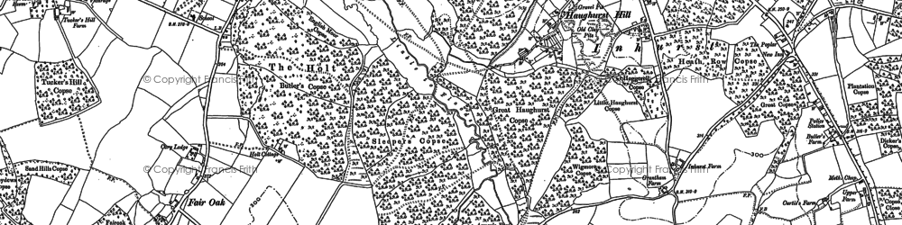 Old map of Axmansford in 1894