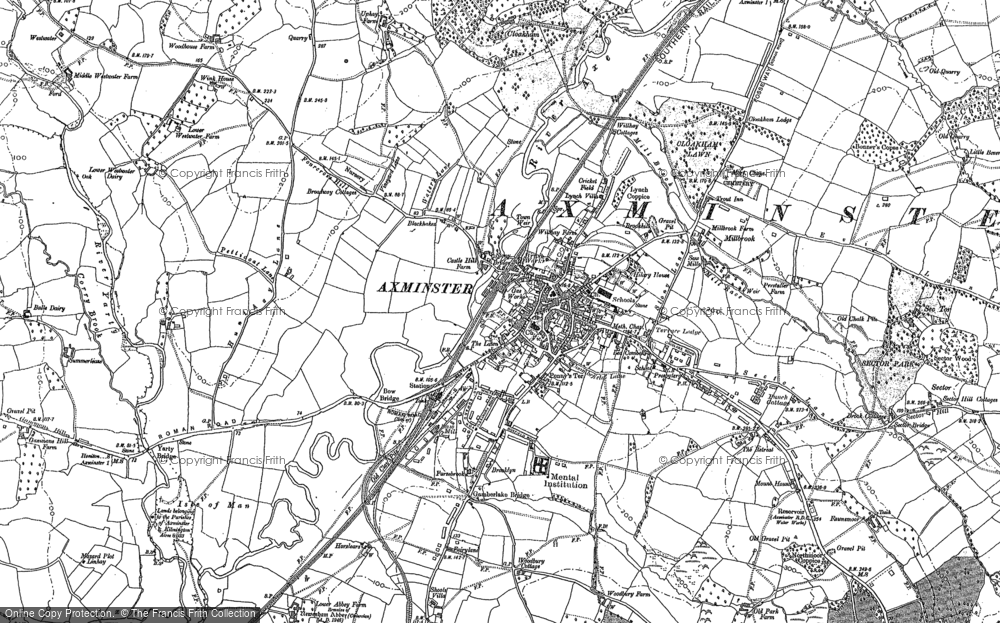 Old Map of Axminster, 1903 in 1903