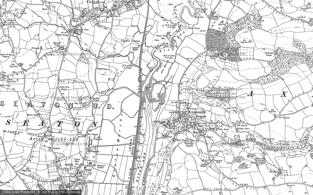 Old Map of Axmouth, 1903 in 1903