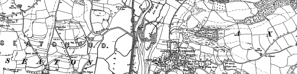 Old map of Axmouth in 1903