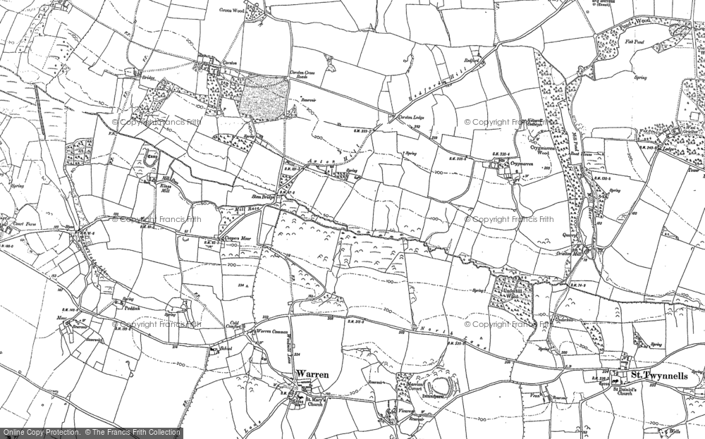 Old Map of Axton Hill, 1948 in 1948