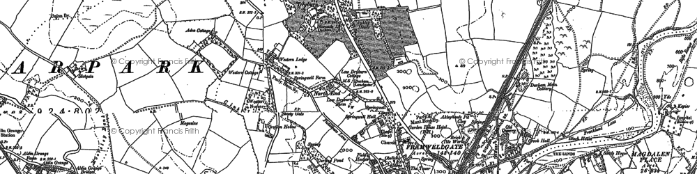 Old map of Aykley Heads in 1895