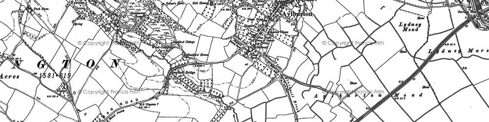 Old map of Aylburton in 1880