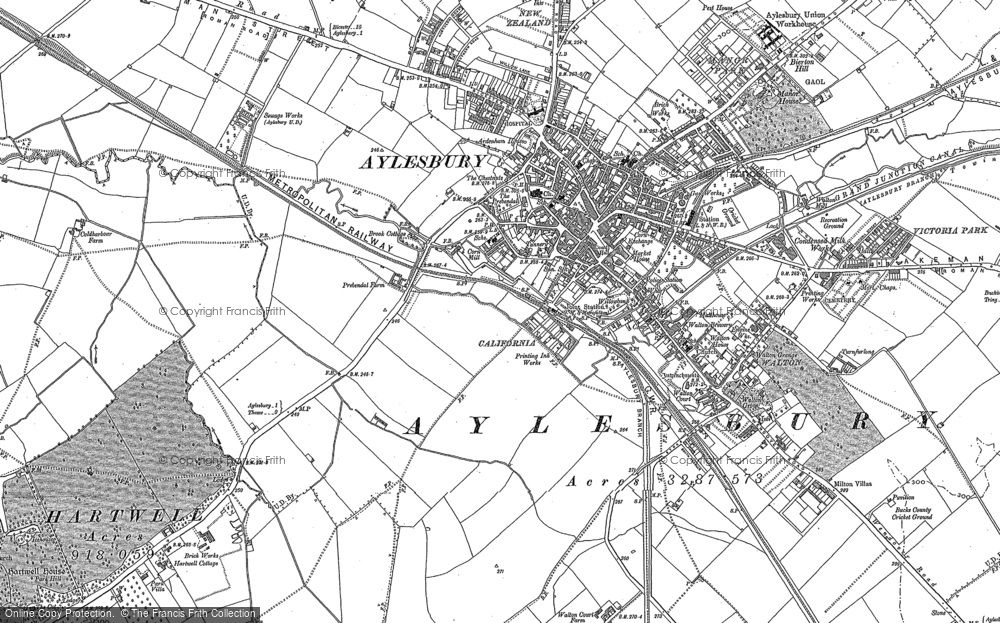 Map of Aylesbury, 1897 - 1898