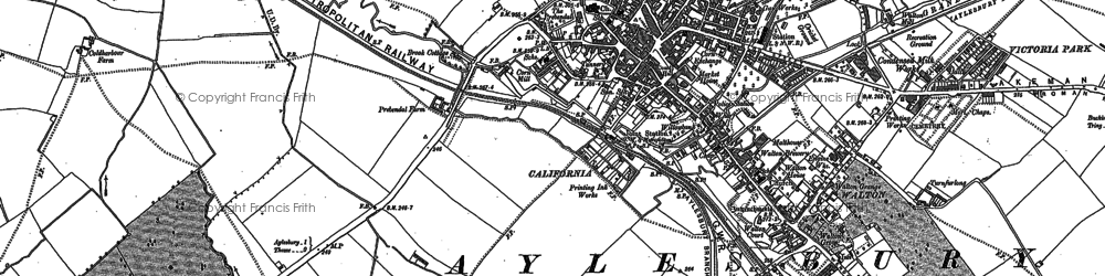 Old map of Aylesbury in 1897