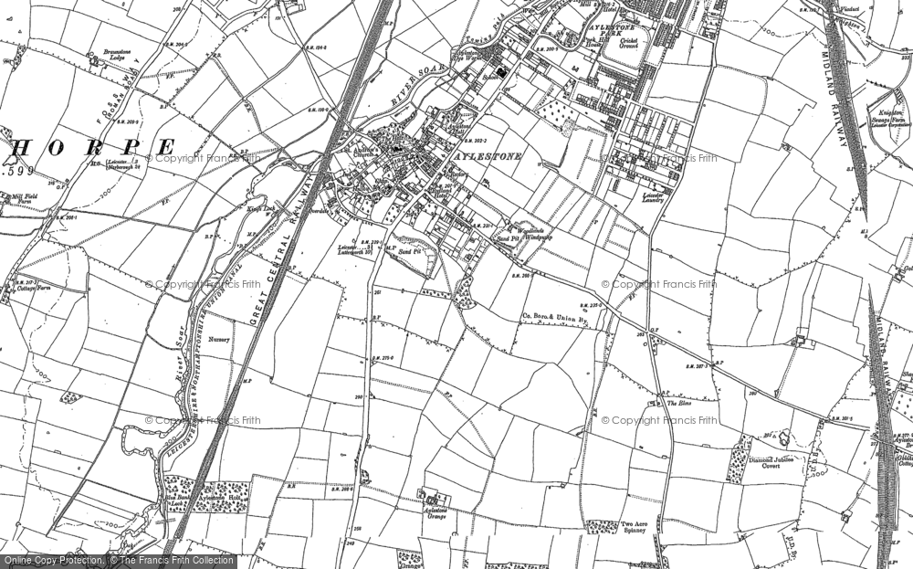 Map of Aylestone, 1885