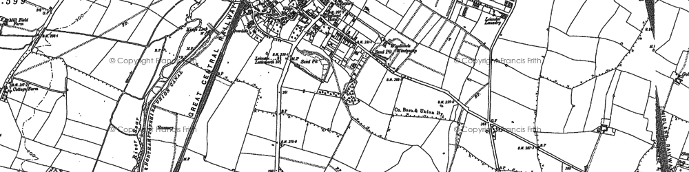 Old map of Aylestone in 1885