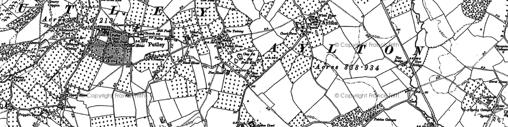 Old map of Aylton Court in 1886