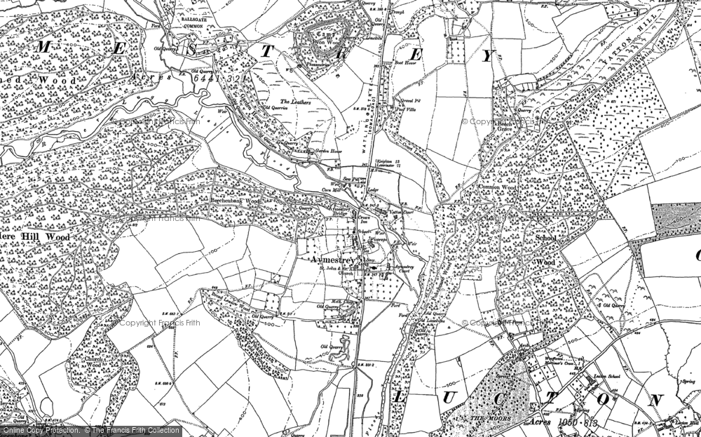 Old Map of Historic Map covering Ballsgate Common in 1885