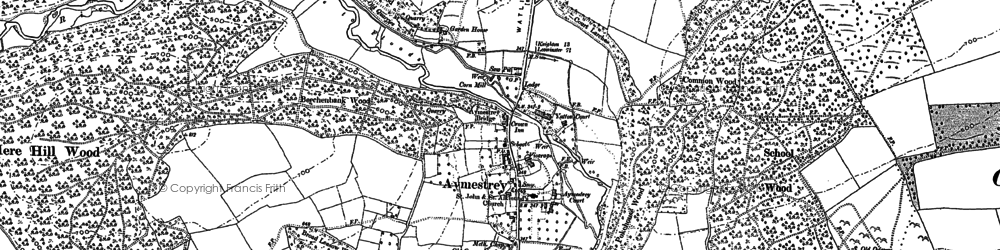 Old map of Ballsgate Common in 1885