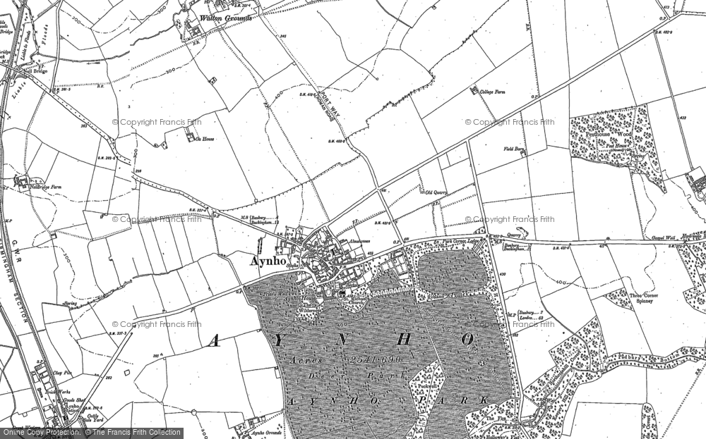 Old Map of Historic Map covering Aynhoe Park Ho in 1898