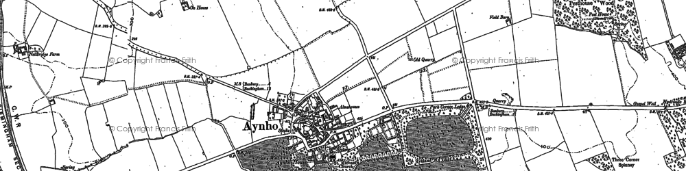 Old map of Aynho in 1898