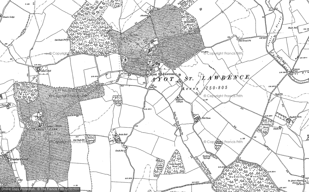 Map of Ayot St Lawrence, 1897