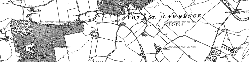 Old map of Codicote Bottom in 1897