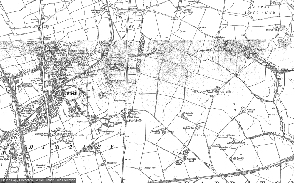 Old Map of Ayton, 1895 in 1895