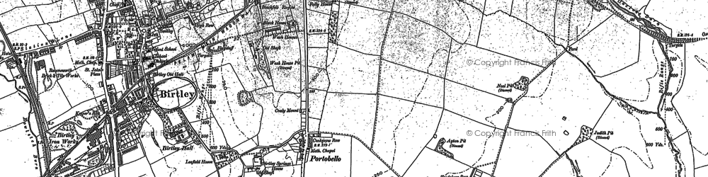 Old map of Ayton in 1895