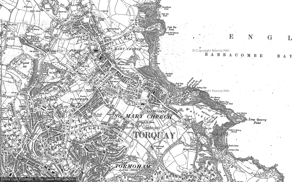 Map of Babbacombe, 1904