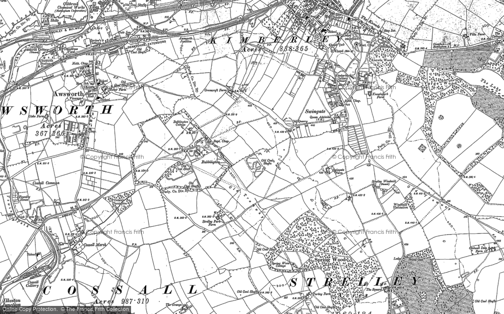 Old Map of Babbington, 1899 in 1899