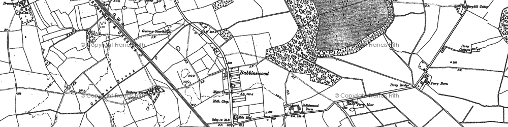 Old map of Babbinswood in 1874