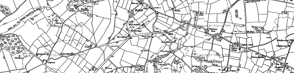 Old map of Babell in 1898