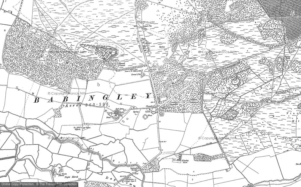 Old Map of Babingley, 1884 - 1904 in 1884