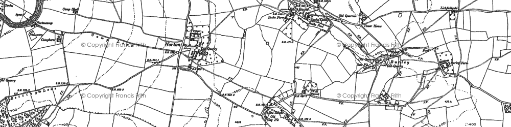 Old map of Bache in 1883
