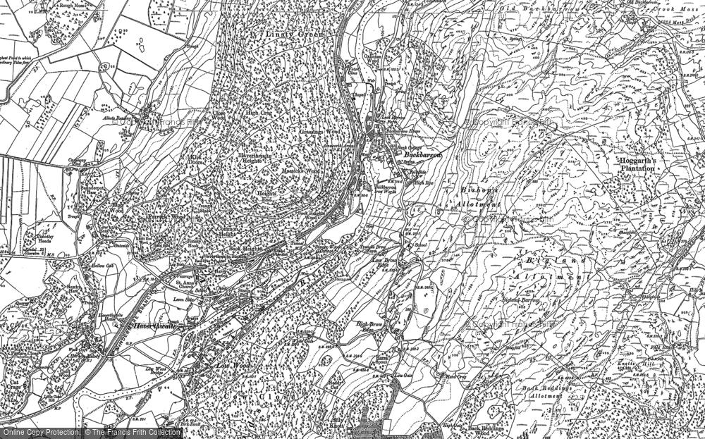 Old Map of Backbarrow, 1911 - 1912 in 1911
