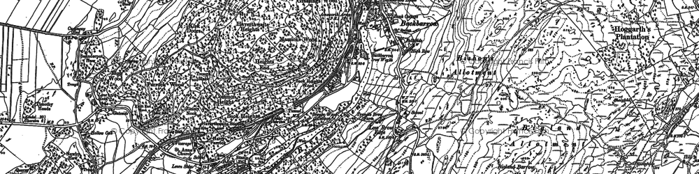 Old map of Backbarrow in 1911