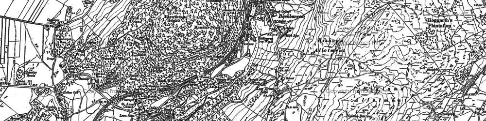 Old map of Backbarrow in 1911