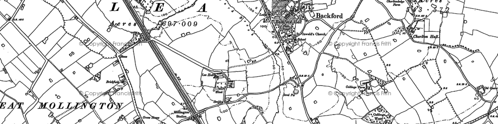 Old map of Backford in 1898