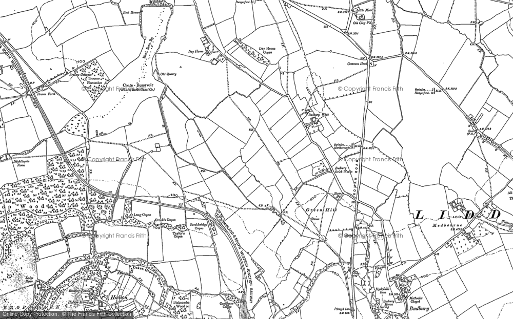 Old Map of Badbury Wick, 1922 in 1922